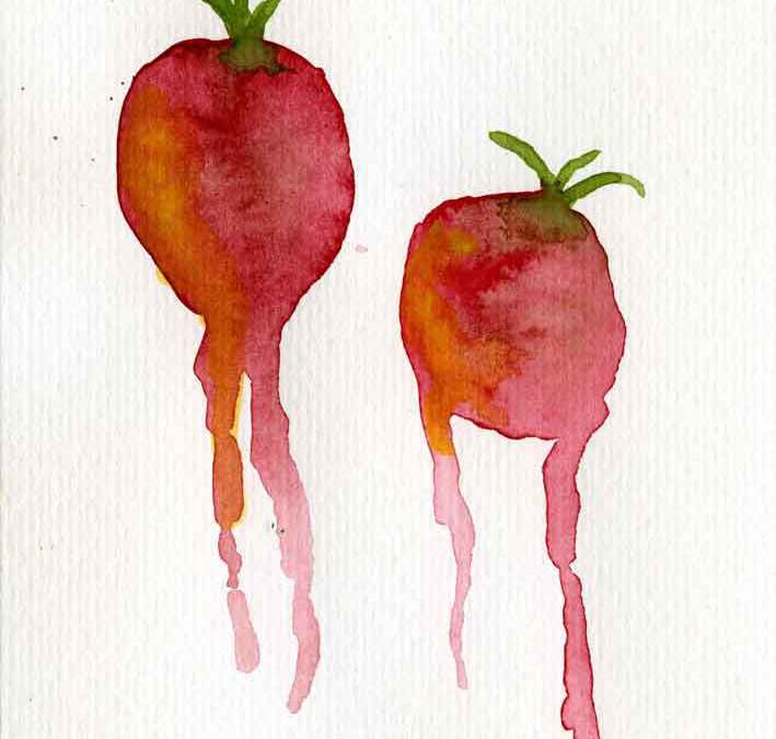 Two tomatoes – Daily painting #1160