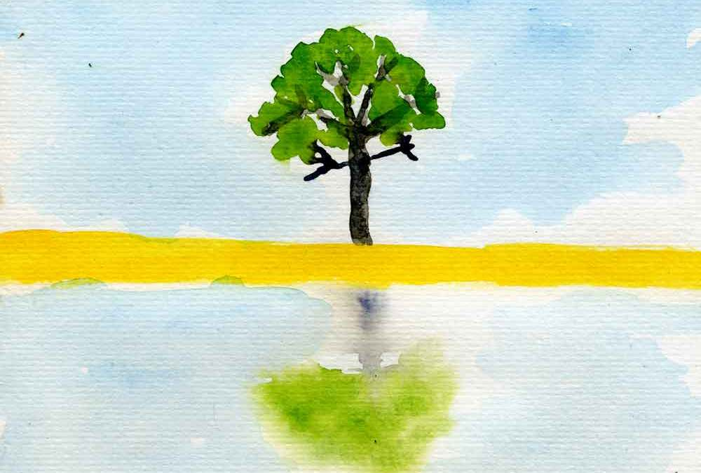 Reflected tree – Daily painting #1195