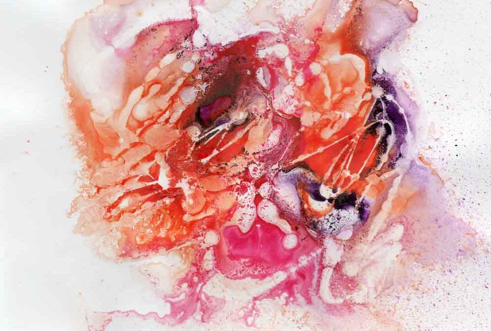 Pink and orange abstract (#1337)
