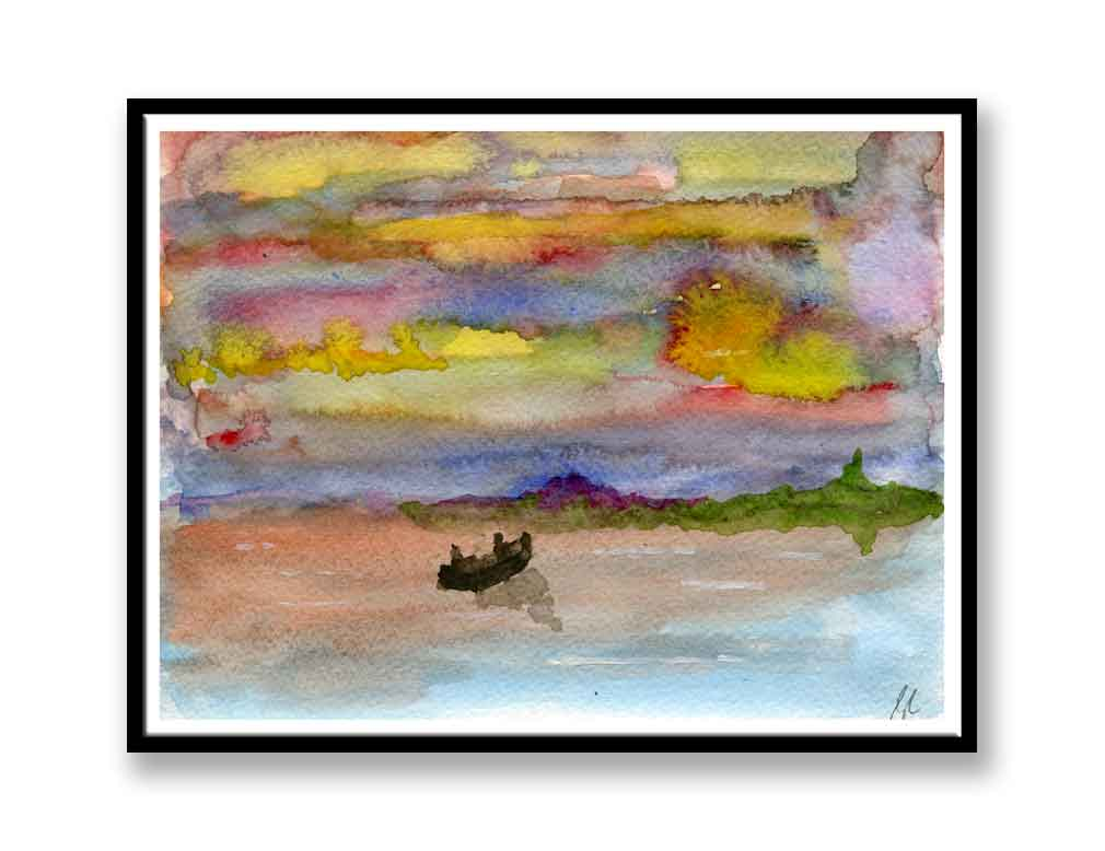 Boat on the water (#7024)