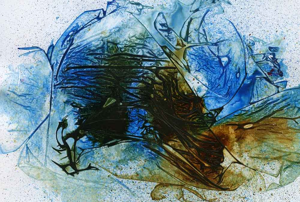 Blue and brown abstract (#1352)