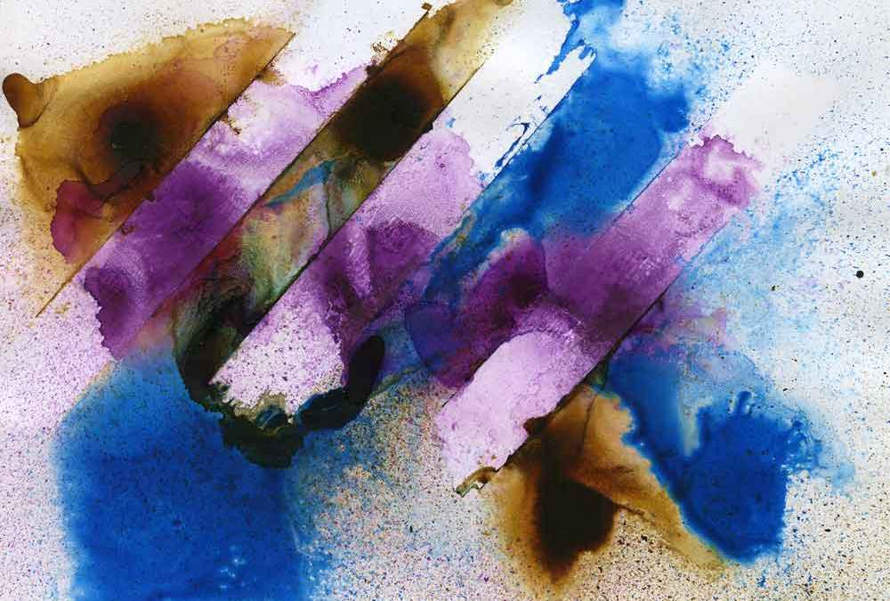 Blue, purple and brown abstract (#1370)