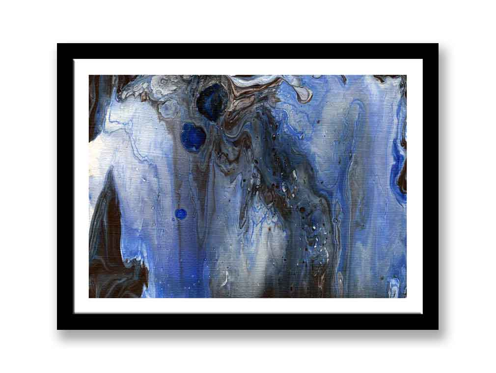 Blue and white abstract – Print for sale (#1381)