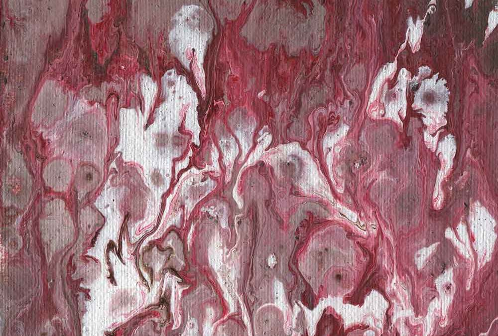 Red and white abstract  (#1385)