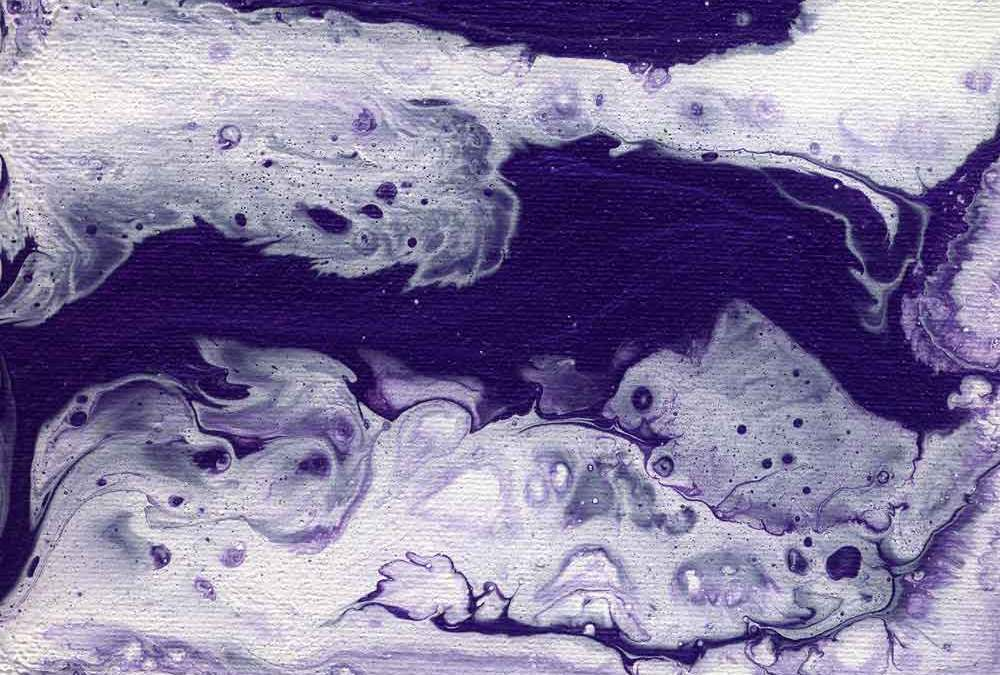 Fluid purple and white abstract (#1398)