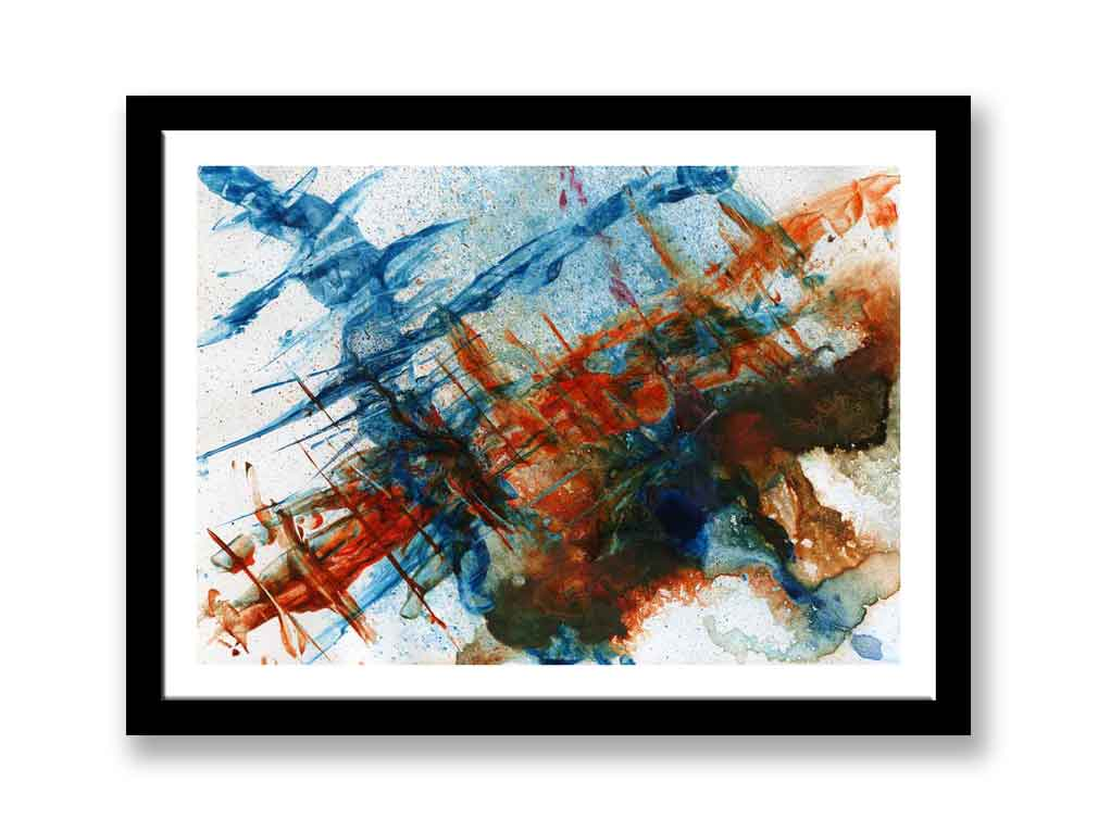 Red and Blue abstract print (#1399)