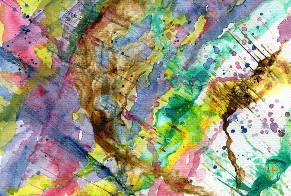 Waking up – watercolour and ink abstract (#1405)