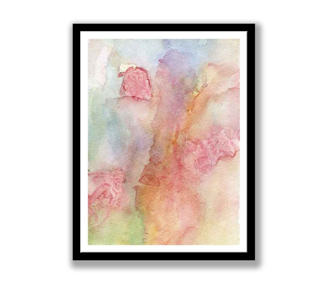 Abstract Watercolour Red flowers (#270)