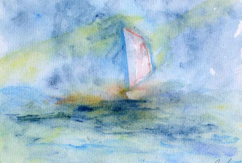 Boat on the sea (#455)