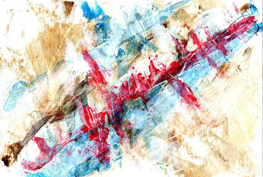 Red blue yellow abstract (#1460)