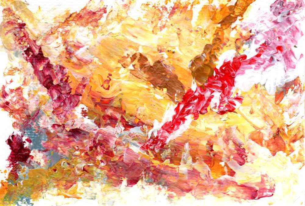 Abstract, yellow and red (#1467)