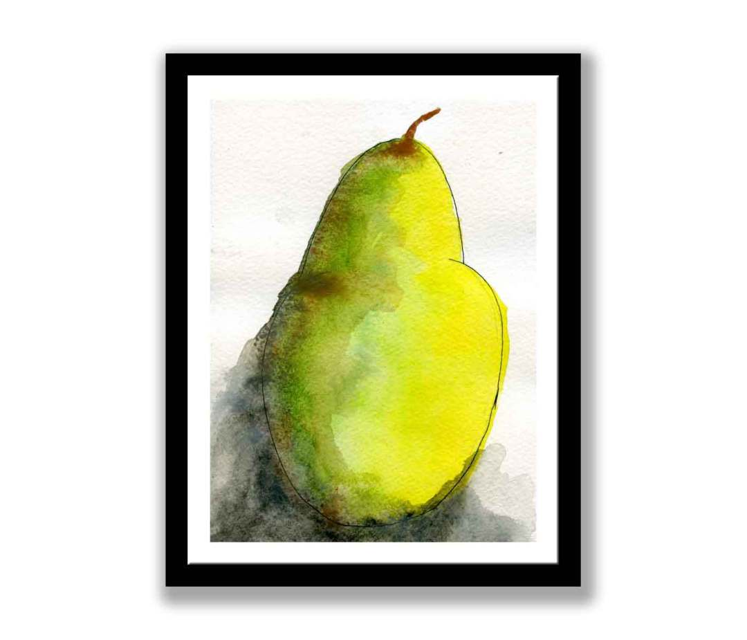 Pear on black abstract (#368)