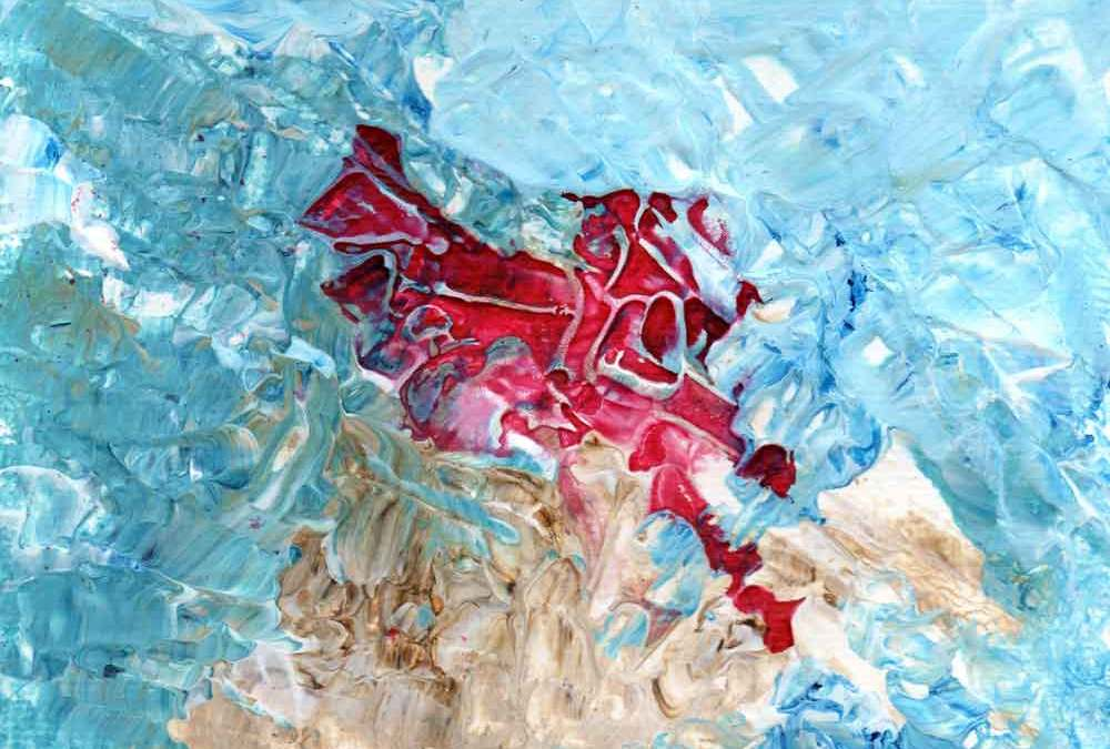 Red, Blue and brown abstract (#1535)