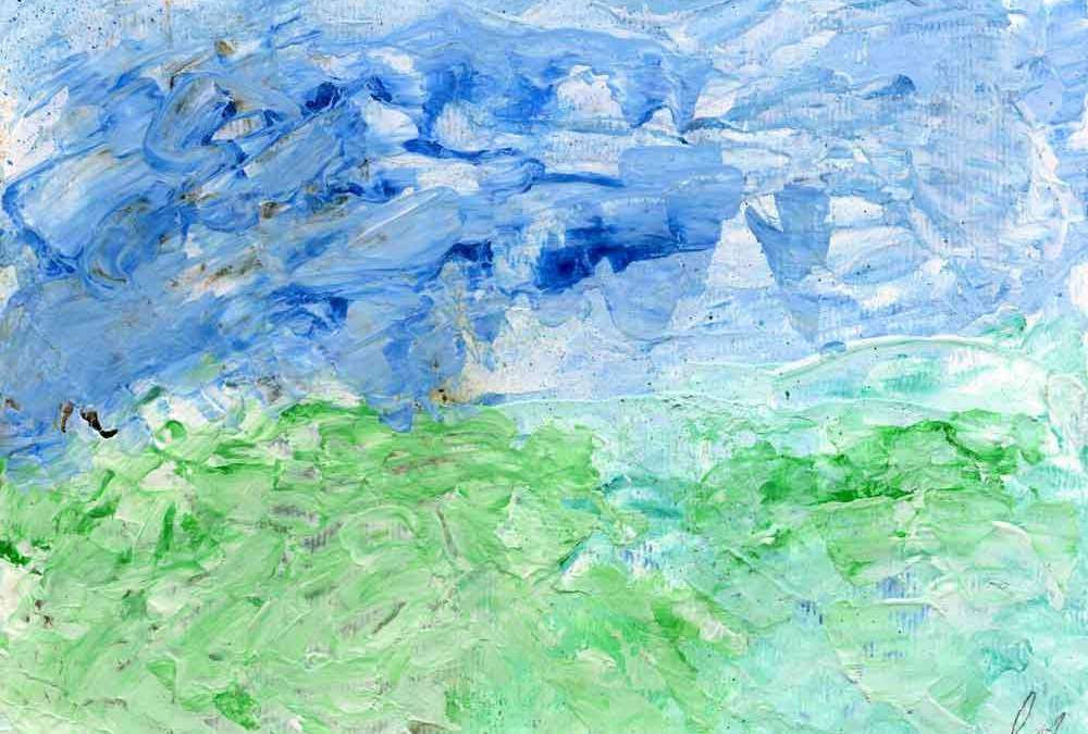 Ink and gesso landscape (#681)