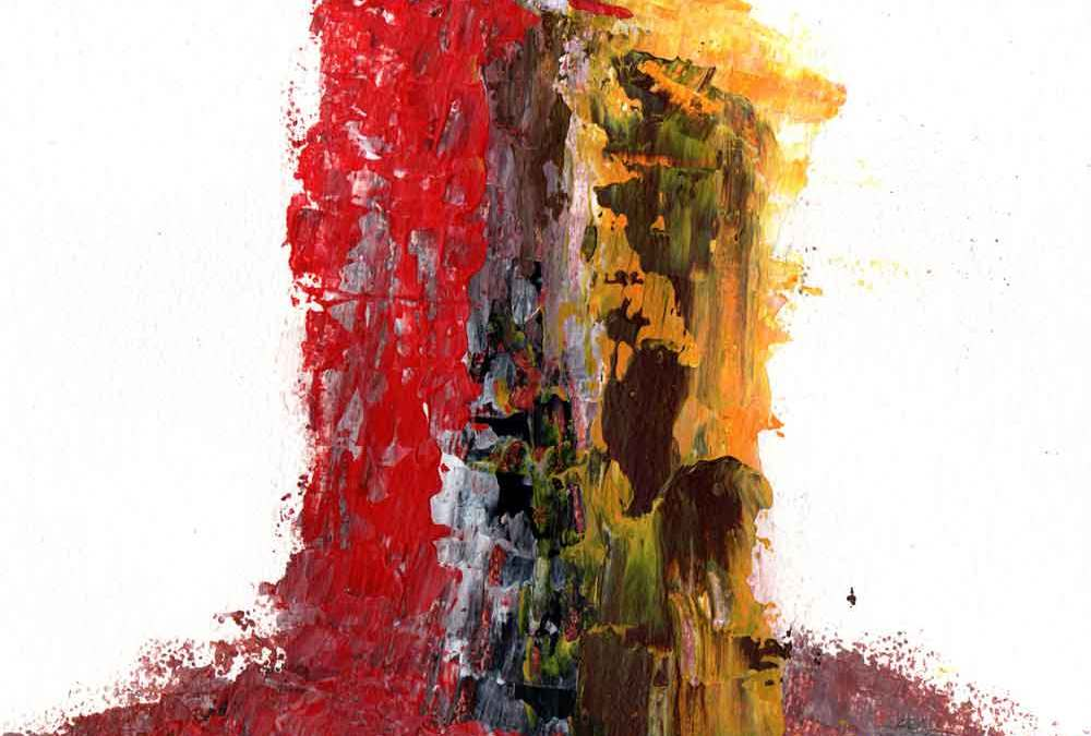 Red, Yellow and Brown abstract (#1546)