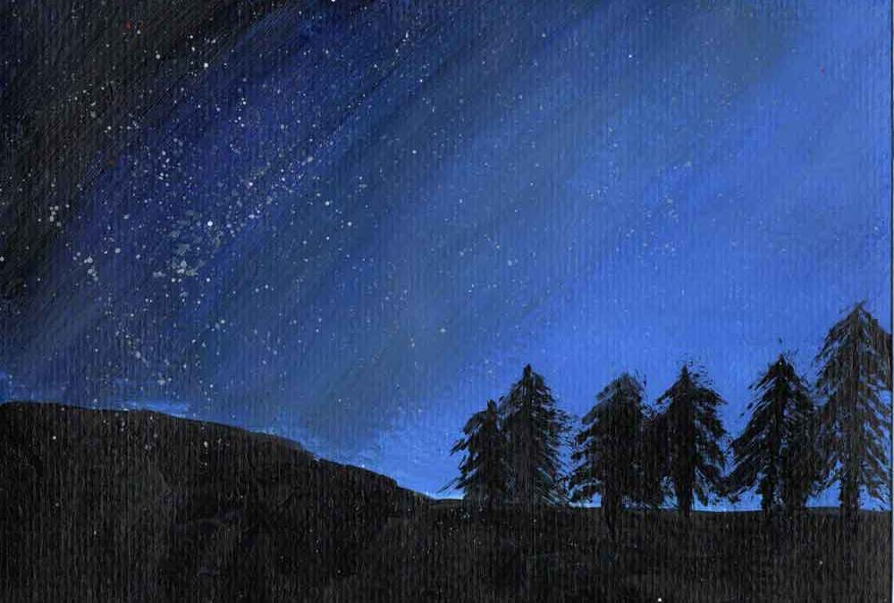 Night sky over landscape (#1559)
