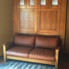 Murphy Sofa Beds Leather And Wood Mission - Style Flyingbeds