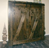 Custom Barn Door Murphy Beds by Flying Beds International ...
