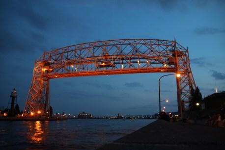 Duluth Aerial Lift Bridge Night