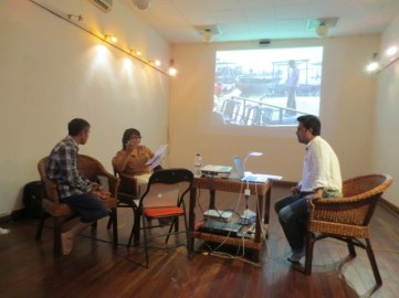 10 Jan - Desire Machine Collective speaks, French Institute, Yangon, Myanmar
