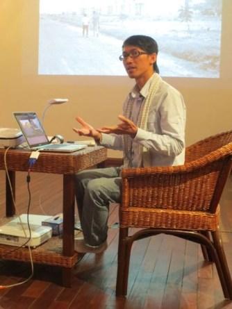 9 Jan - Vuth Lyno speaks, French Institute, Yangon, Myanmar