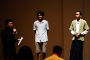 19 Jan, Director Ong Keng Sen wrapping the session up with Translator Thet Zaw Win and Burma VJ Sithu Zeya, FCP SUPERINTENSE Day 4, 72-13, Singapore