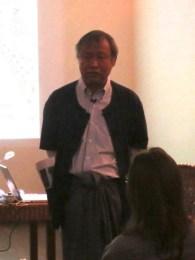 5 Jan - Ko Tar's Public Lecture, French Institute, Yangon, Myanmar