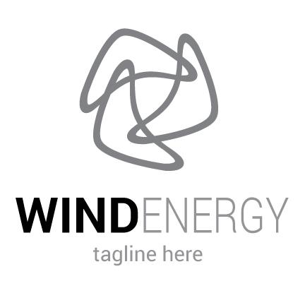 Wind Energy Logo Design — Royalty-Free, Vector