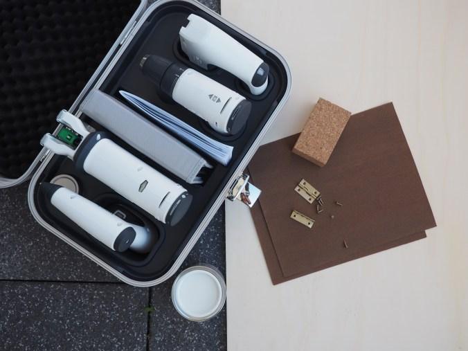 Twercs Koffer und Materialien
