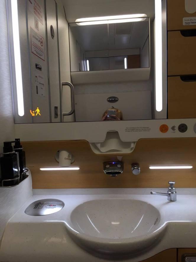 economy bathroom Emirates Airbus A380