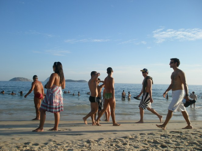 People on Ipanema beach