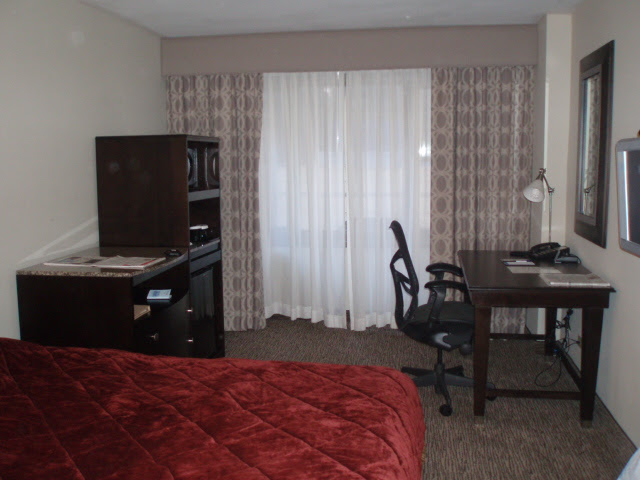 The Hilton Garden Inn room