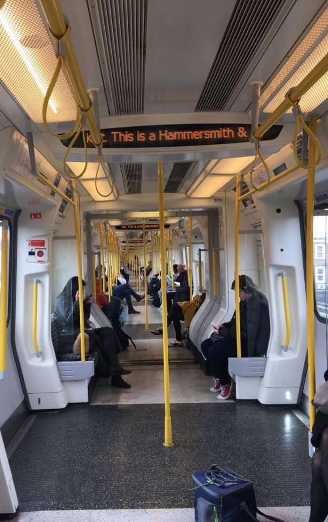 A Hammersmith & City line tube carriage
