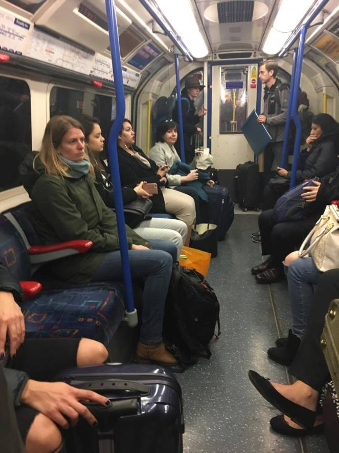 A Piccadilly Line London Underground carriage