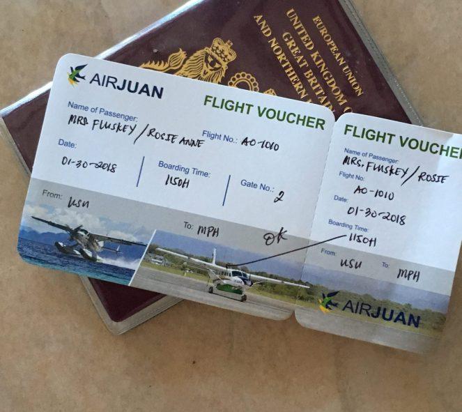 My passport and boarding pass