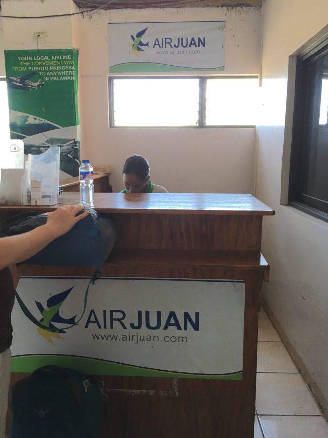 Air Juan check in desk