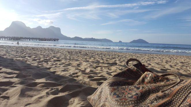 My beach bag on LIO beach