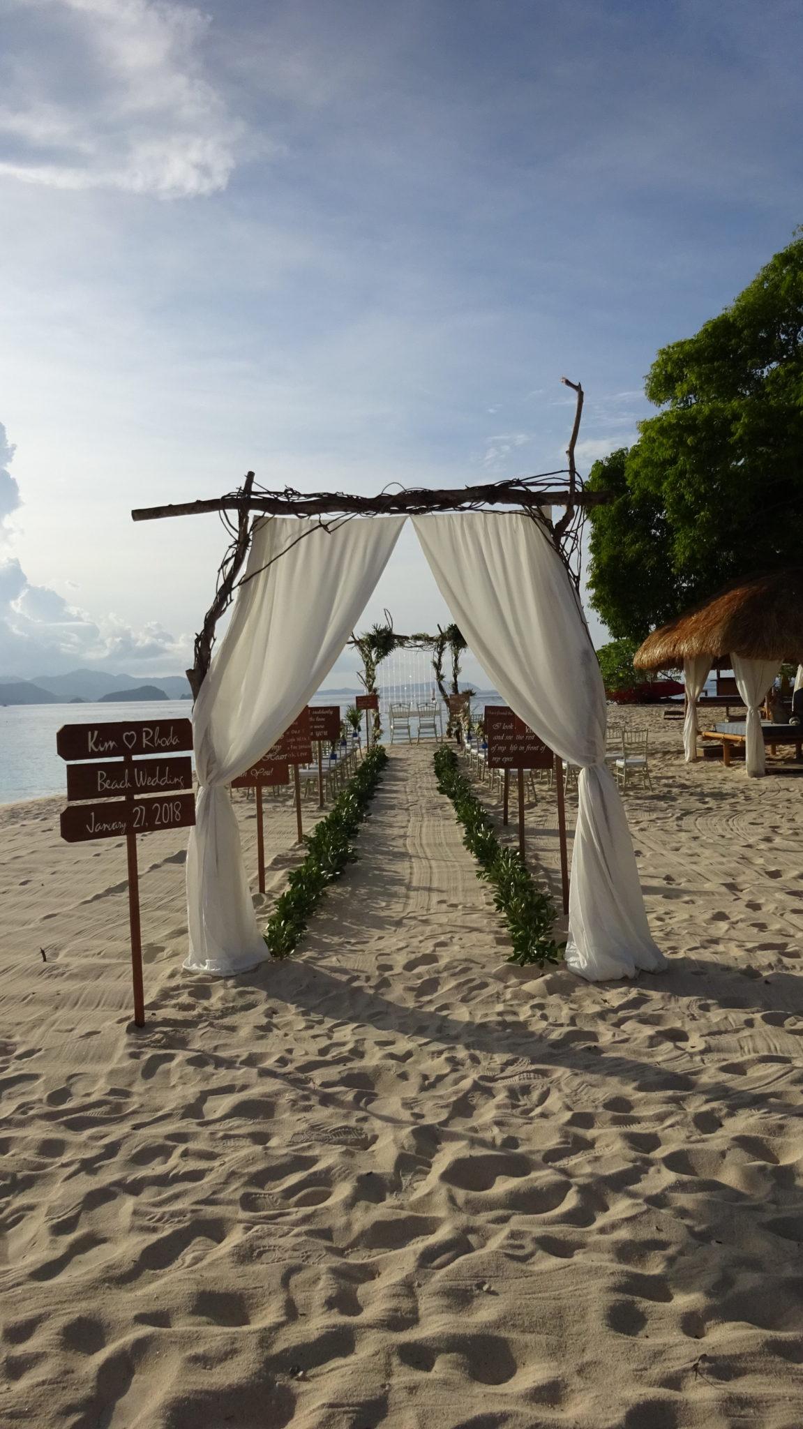 Club Paradise Palawan - Wedding aisle