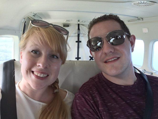 A Flying Fluskey selfie onboard