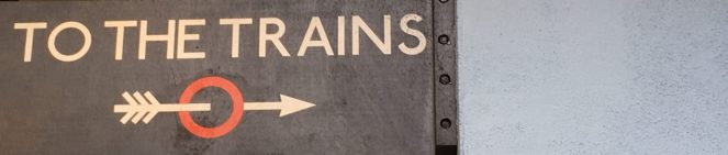 Cahoots Squiffy Picnic - To The Trains Sign