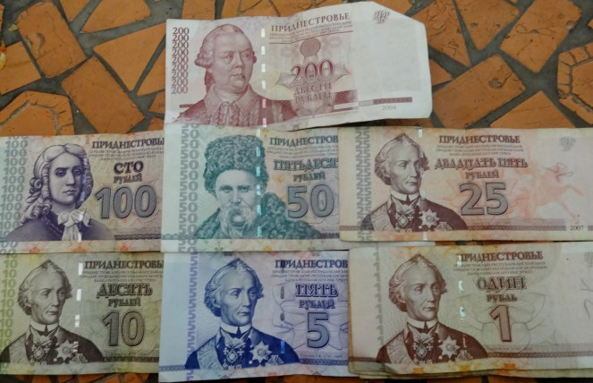 One night in Transnistria - Transnistrian Rubles