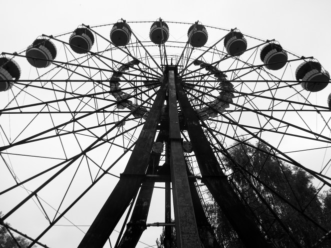 Eerie Ferris wheel in Pripyat