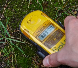 Geiger counter reading