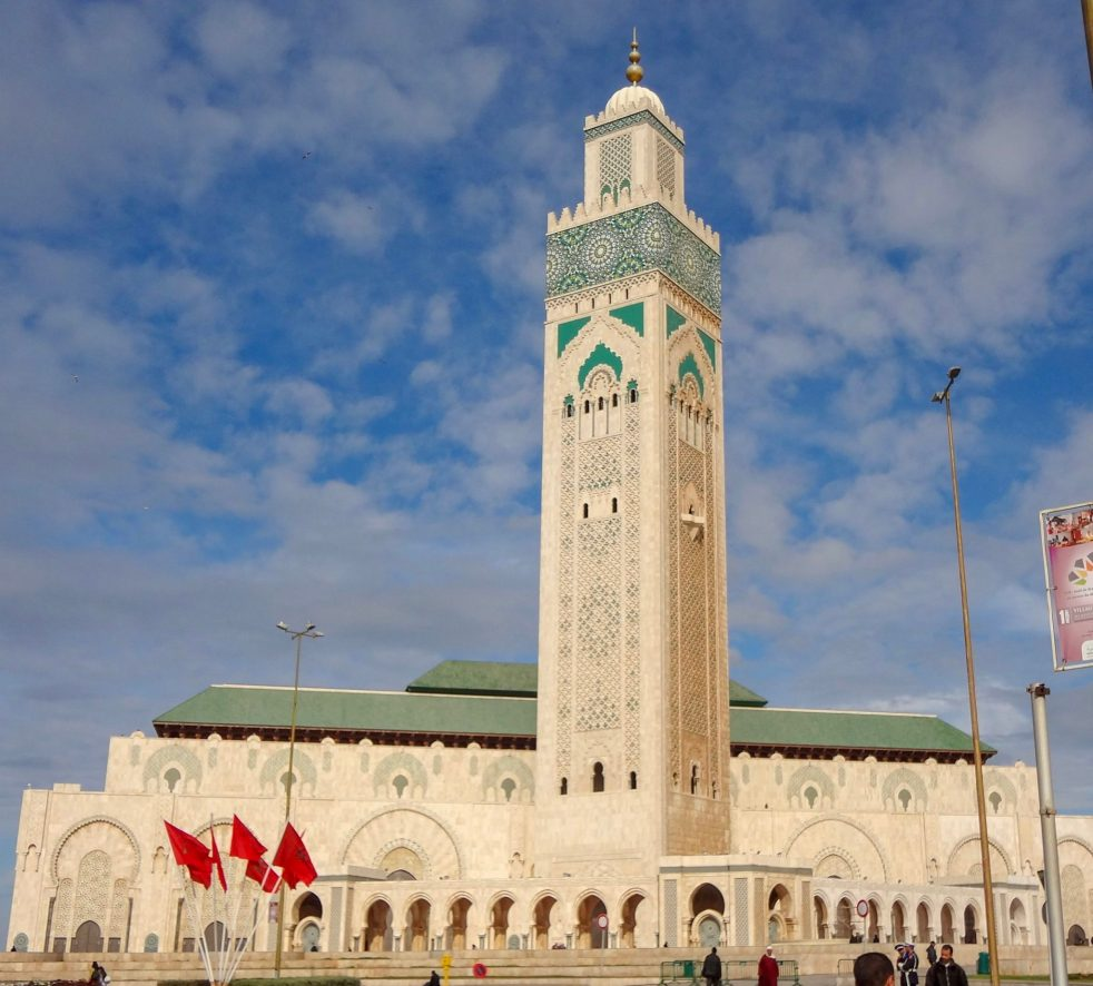 The outside of Hassan II Mosque, Casablanca, Morocco