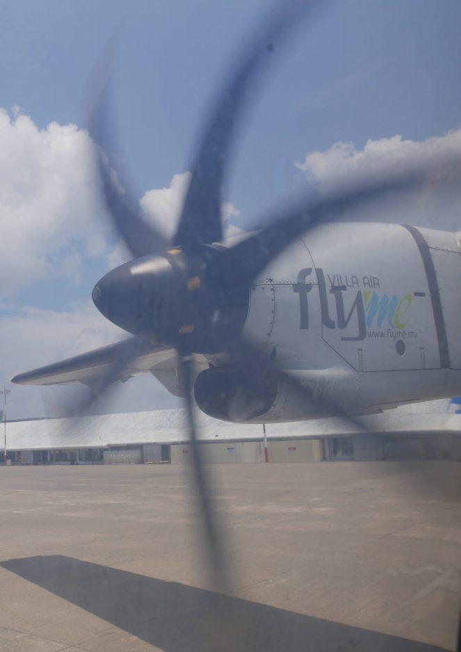 propeller of a flyme ATR 72-500 plane