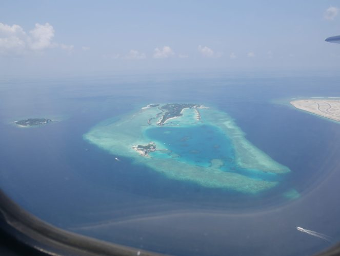 Furanafushi Island, Maldives from the sky