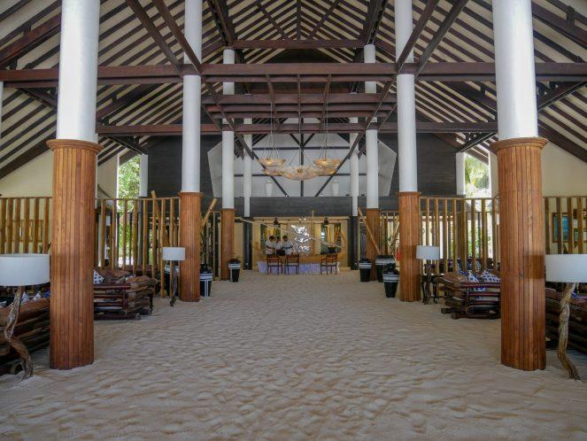 Kihaa Maldives sand floored reception