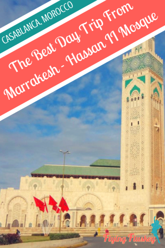Casablanca, in Morocco, is the perfect day trip from Marrakesh. Join us as we explore the Hassan II mosque, the large and beautiful mosque on the Atlantic shore. #morocco #casablanca #hassaniimosque #hassan2mosque #casablancamorocco #perfectdaytripfrommarrakesh