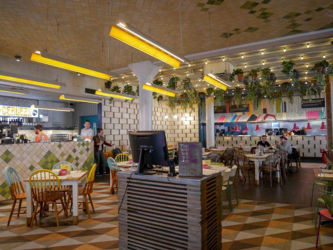 inside The Azulito Bar of Wahaca, 80 Wardour Street, Soho, London