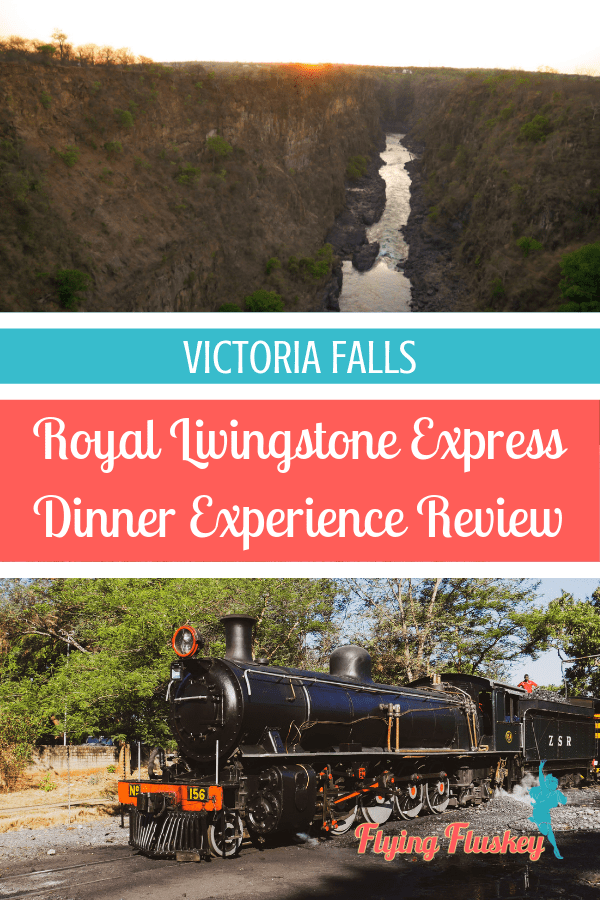 Victoria Falls is an iconic African destination and a place that deserves an extra special treat. We stepped back in time on a vintage train, the Royal Livingstone Express dinner experience. #africatravel #royallivingstoneexpress #victoriafalls #vintagetrain #victoriafallstrain